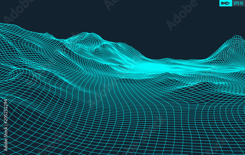 Abstract vector landscape background Tablou Canvas