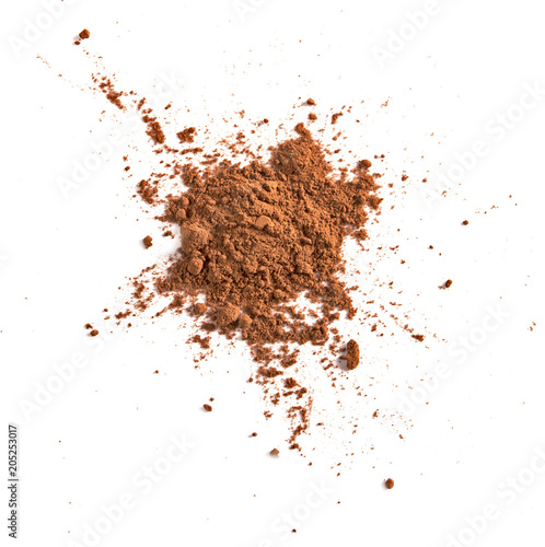 Foto auf AluDibond Schokolade chocolate powder isolated on white background