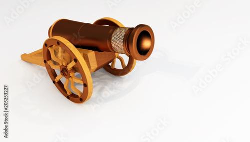 Obraz na plátne 3D rendring of Ramadan Metal Vintage Old Cannon