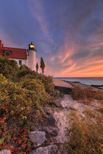 Sunset At Point Betsie Lighthouse Near Frankfort Michigan, USA