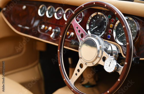 Photo sur Aluminium Vintage voitures Oldtimer Lenkrad