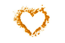 Turmeric Powder In The Shape O...