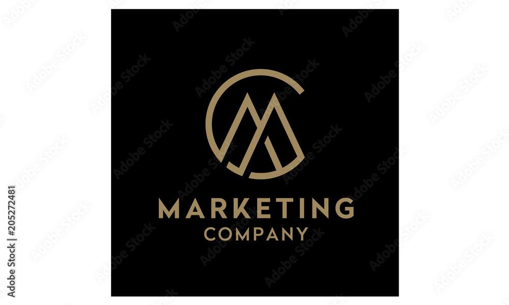 Fototapeta Monogram / Initials CM or MC logo design inspiration