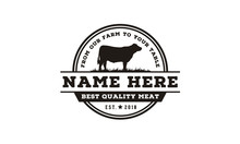 Vintage Cattle Angus Beef Labe...