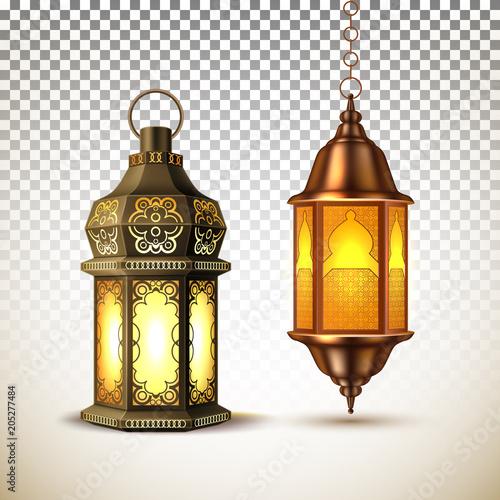 Photo Vector ramadan kareem lamp lantern realistic