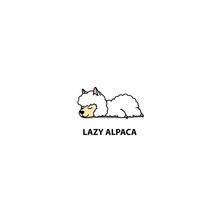 Lazy Alpaca Sleeping Icon, Log...