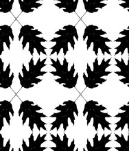 Pattern With Leaf Silhouettes