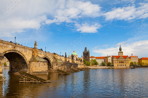Staande foto Praag Iconic Charles bridge in Prague, Czech Republic. Sunset time.