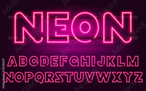80 s purple neon retro font futuristic chrome letters bright