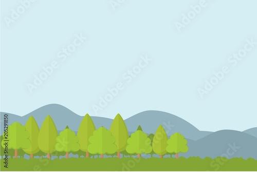 Tuinposter Lichtblauw Landscape Background