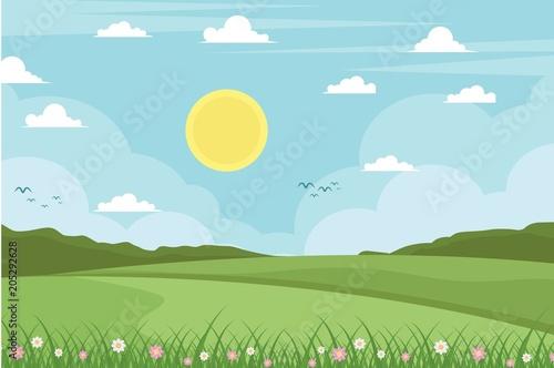Foto op Canvas Lichtblauw Landscape Background