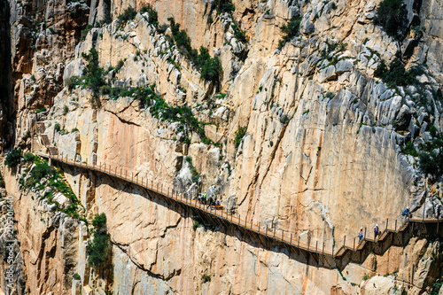 Caminito Del Rey - mountain path along steep cliffs in Andalusia, Spain Wallpaper Mural