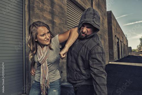 Fotografía  Girl who knows self defense.