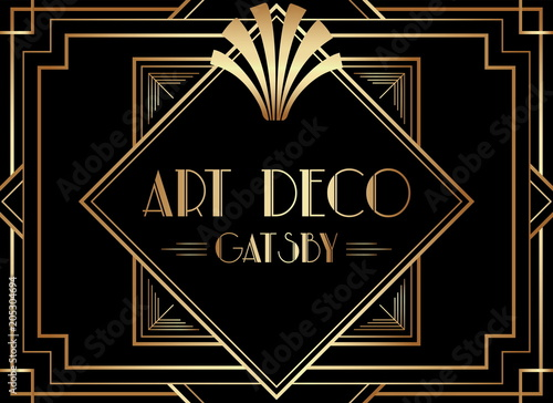 Photographie  Geometric Gatsby Art Deco Background