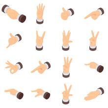 Hand Gesture Palm Pointer Icon...