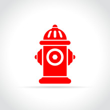 Fire Hydrant Icon On White Bac...