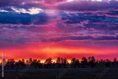 APRIL 27, 2017, RIDGWAY COLORADO - Stunning Sunset on Hastings Mesa, between Rid Slika na platnu