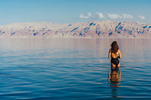 Young Woman Going To Dead Sea,...