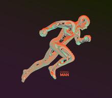 Running Man. Emblem For Marath...
