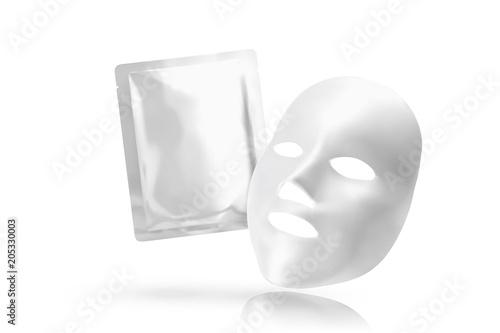 Facial mask with foil pack Wallpaper Mural