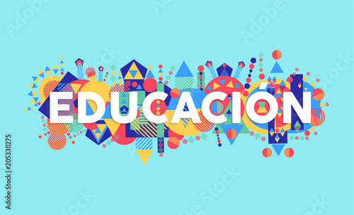 Education school quote in spanish language Wallpaper Mural