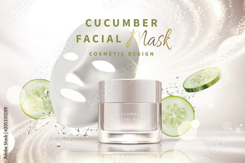 Photo  Cucumber facial mask cream
