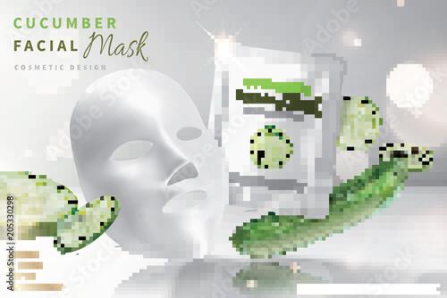 Cucumber facial mask Canvas Print