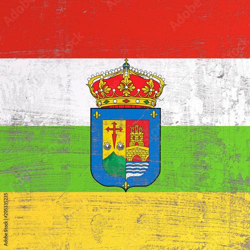 scratched La Rioja flag