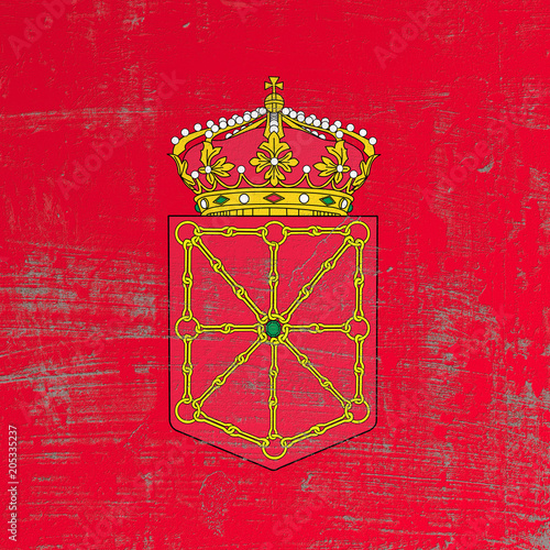 scratched Navarra flag