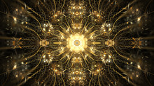 Abstract Intricate Symmetrical...