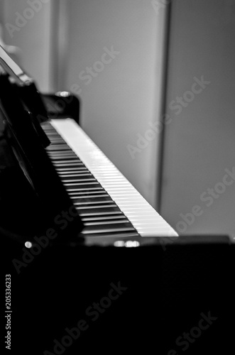 Spoed Foto op Canvas Muziekwinkel Luxury piano shop musical instrument store shopping