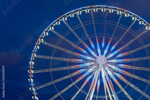 Deurstickers Antwerpen Ferris Wheel at dusk