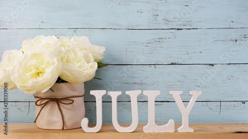 Obraz july alphabet letter with space background - fototapety do salonu