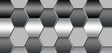 Silver hexagonal background