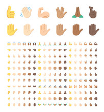 All Type Of Hand Emojis, Stick...