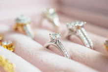 Gold And Silver Diamond Ring A...