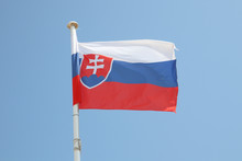 Slovakia Flag On A Mat In The ...