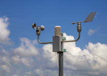 Meteorological System Station With Anemometer And Wind Vane