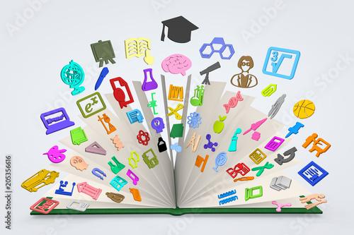 Foto  Livre éducation scolaire, université, examen et diplôme