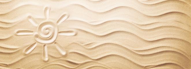 Sun on Sand on Beach Holiday Background