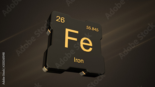 Iron element symbol number 26 from the periodic table on futuristic iron element symbol number 26 from the periodic table on futuristic black icon and nice lens urtaz Gallery