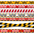Police line and do not cross, Caution lines. Warning tapes isolated on a white background.