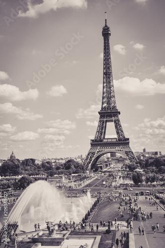 The Eiffel Tower : a Famous Iron Sculpture, Symbol of Paris Poster