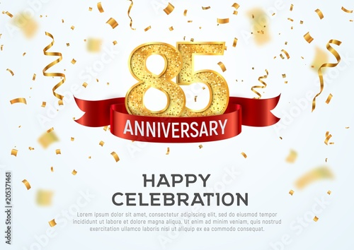 Papel de parede  85 years anniversary vector banner template