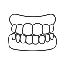 Dentures Linear Icon