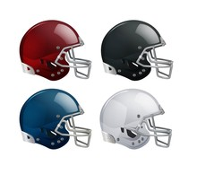 Set Of Isolated Helmets For Am...