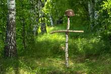 Helmet On The Birch Cross. The...