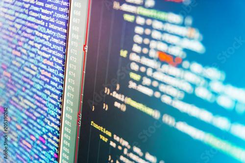 Programming code  Programming code abstract technology