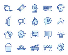 Fire Department Vector Icon Set