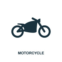 Motorcycle Icon In Vector. Flat Style Icon Design. Vector Illustration Of Motorcycle Icon. Pictogram Isolated On White.